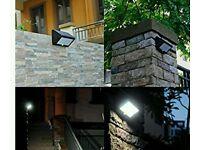 35 led solar light wall garden