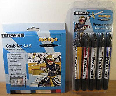 Letraset Promarker Comic Art Set 2 + Manga Additions 2