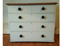 Farmhouse antique pine chest of drawers ( free local delivery)