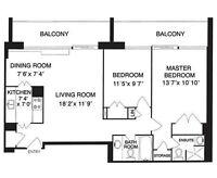 2-Bedroom Apar for Rent,beside St.George Station/UofT, 1800/Mont