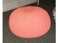 *Gone Pending Collection* FREE Burnt Orange Knitted Pouffe