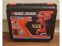 Black and Decker 14.4v Drill with Battery and Charger and Carry Case