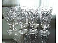 8 crystal port glasses
