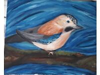 Hand painted chaffinch artwork