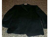 Calvin klein grey pinstripe suit