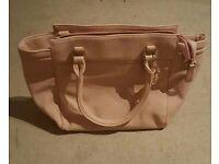 Baby pink handbag