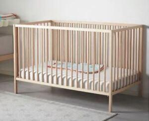 "Ikea ""Sniglar"" Crib and mattress - solid beech"