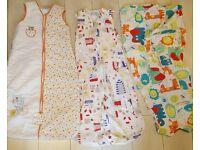 3 Baby Grobag Sleeping Bags bed nightwear zip popper