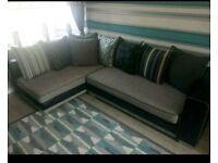 corner sofa foot stool and single seater