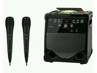 Goodmans XXB16CDGBT BLUETOOTH Karaoke Machine X2 MICS RRP £69.99