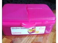 Pink sistema lunch box children's