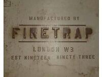 Firetrap white trainers size 10