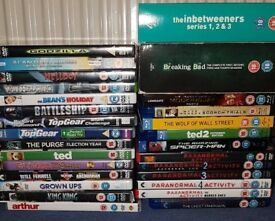 Job lot of dvds, blu rays and boxsets