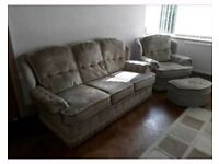 3piece suite and footstool