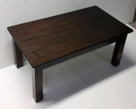 Chocolate single shelf coffee table