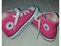 Pink Converse infant size 6 UK