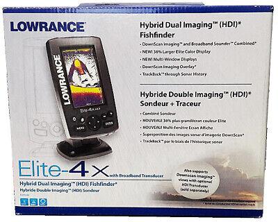 Lowrance Elite-4x Hybrid Color Fishfinder + 83/200 Transducer