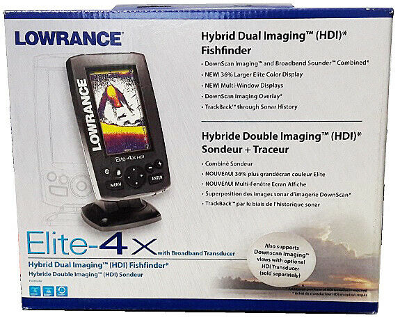 Lowrance ELITE-4X HDI 83/200 Fishfinder with 83/200KHz Trans