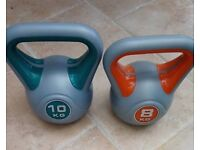 Kettle bells 10kg and 8kg