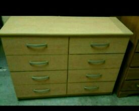 A brand new beech effect finish 4x4 drawer chest.
