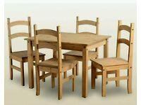 New Pine dinning table set
