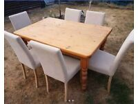 Pine Table and 6 Chairs - Upcycle Project