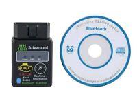 ELM 327 OBD2 Bluetooth Car Scanner OBD-II Android Auto Torque Diagnostic Fault Scan Tool Code Reader
