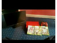 For sale Slim led tv with red xbox 360