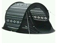 Pop up 2 man tent for festivals or the beach