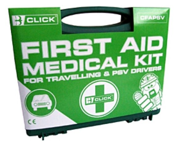 First Aid Medical Kit For Travelling + PSV Drivers, Cars, Van, Lorries, Trucks