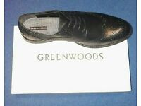 REDUCED!! Greenwoods Men's Black Brogue Shoes. Size 11.