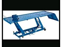 Hydraulic motorcycle workshop lifts