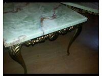 Marble Vintage ornate Set 2 coffe table lamp