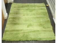 IKEA GREEN RUG IN VERY GOOD CONDITION HAMPEN 133cm x 195cm