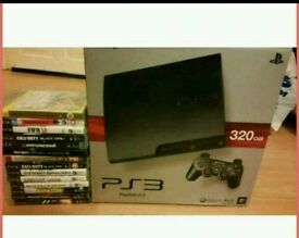 Mint condition piano black 320gb ps3 with 15 games, all cables, 2 controllers and extras
