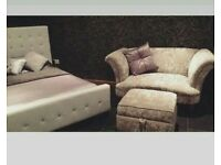 Dfs cuddle sofa & footstool! Offers :)