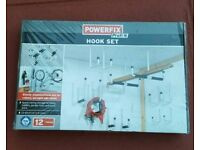 Powerfix hook set for garages sheds brand new
