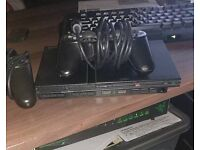 PS2 smaller version, 2 controllers + GTA