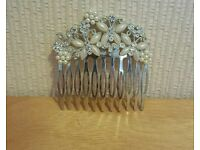 Silver and Pearl Styled Butterly Hair Piece