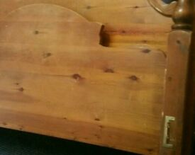 Pine standard double bed