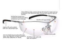 BOLLE Silium Safety Specs Spectacles Sun Glasses PPE Work Eye Wear Anti-Scratch