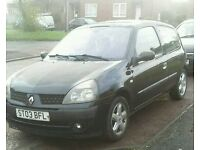 2003 renault clio 1.5 dci.£20 a year tax