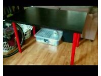 IKEA work desk - Black and Red