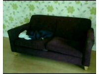 Purple sofa, good condition, offers welcome