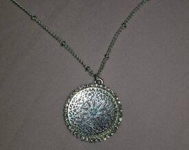 Silver Mandala Necklace