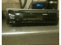 Sony fm radio aux USB iPhone and android compatible car stereo