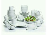 60 Piece White Coupe Vermont Dinner Set .argos price £99.99