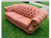 Chesterfield fabric sofa