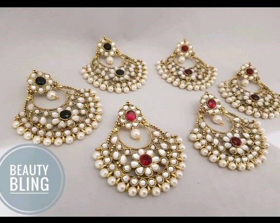Beautiful Pair of earrings. Indian Jewellery . Free UK delivery