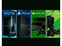 Want to buy Sony PlayStation 3 £20 PS 4£100 ps4 pro 130 Xbox 360 20 xbox one 70 xbox one s 110